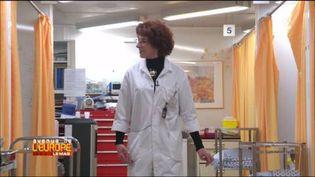 Le DrMarie-Elisabeth Faymonville, pionnière de l'hypnose anesthésique au CHU de Liège, Belgique. (FRANCE 3 / FRANCETV INFO)