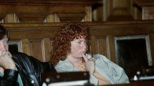 Murielle Bolle lors du procès de Jean-Marie Villemin, accusé du meurtre de Bernard Laroche, au tribunal de Dijon (Côte-d'Or), le 3 novembre 1993. (GERARD CERLES / AFP)