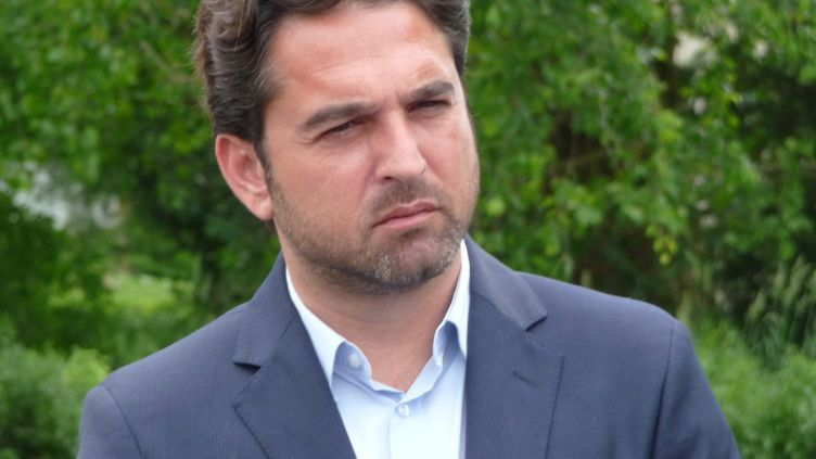 Arnaud Robinet, maire de Reims (Marne), le 3 juin 2019. (PHILIPPE REY-GOREZ / RADIOFRANCE)