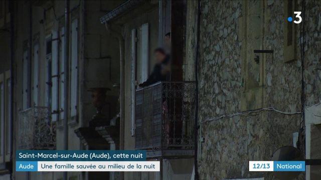 Aude : une famille sauvée dans la nuit