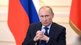 Le président russe Vladimir POutine lors d'une conférence de presse à Moscou, le 4 mars 2014. (ALEXEY NIKOLSKY / RIA NOVOSTI / AFP)