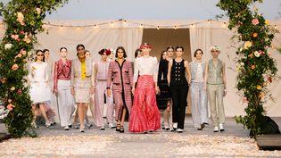 Chanel haute couture printemps-été 2021, à Paris, le 26 janvier 2021 (GARY SCHERMANN)