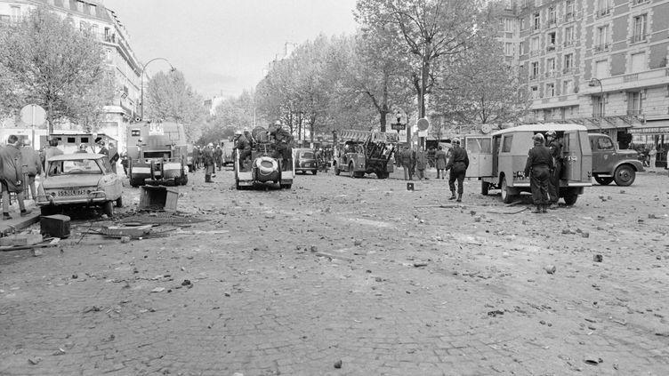 Le quartier Latin à Paris durant les manifestations de Mai 68. (AFP)