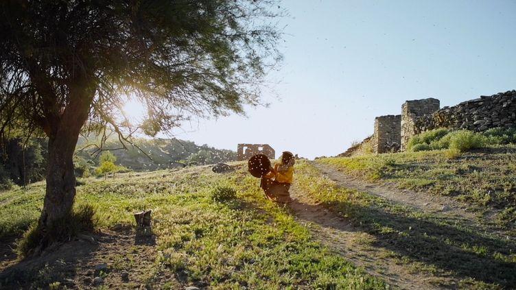 """Hatidze est l'une des dernières personnes à récolter le miel de manière traditionnelle. Son parcours est raconté dans """"Honeyland"""". (Trice Films : Apolo Media)"""