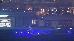 Un Boeing 767 de la compagnie Air Canada, à l'aéroport de Madrid (Espagne), le 3 février 2020. (JAVIER SORIANO / AFP)