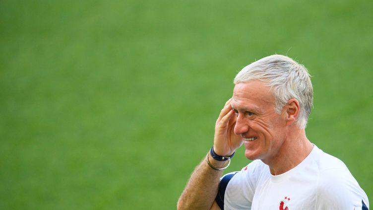 Didier Deschamps à l'entraînement des Bleus, le 23 juin à Budapest (ZENTRALBILD / PICTURE ALLIANCE / AFP)