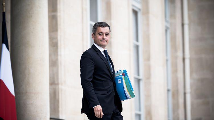 Le ministre de l'Intérieur, Gérald Darmanin, à la sortie du Conseil des ministres, le 15 juillet 2020. (NICHOLAS ORCHARD / HANS LUCAS / AFP)