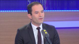Benoît Hamon, invité sur franceinfo le 13 novembre 2016. (FRANCEINFO / RADIOFRANCE)