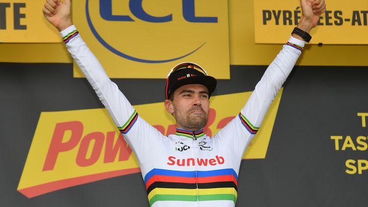 Tom Dumoulin sur le podium de la 20e étape (DAVID STOCKMAN / BELGA MAG)