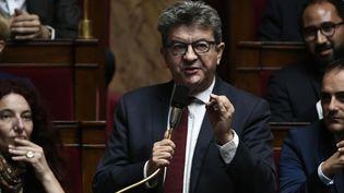 Le député de La France insoumise Jean-Luc Mélenchon à l'Assemblée Nationale mardi 16 octobre 2018. (STEPHANE DE SAKUTIN / AFP)