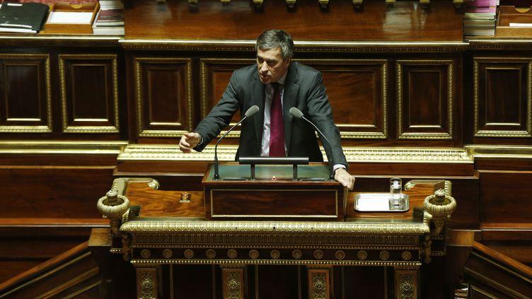 Le ministre du Budget, Jérôme Cahuzac, le 7 novembre 2012, au Sénat. (FRANCOIS GUILLOT / AFP)