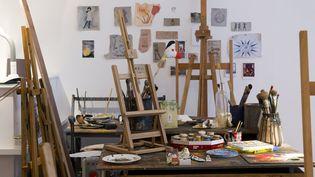 La réplique de l'atelier de Joan Miro à Majorque visible à Londres à partir du 21 janvier 2016 et jusqu'au 12 février.  (Justin Tallis / AFP)