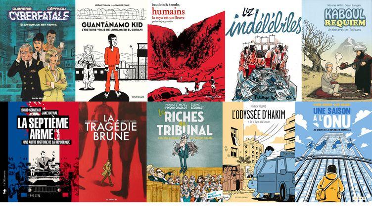 DE LA ROYA A GUANTANAMO ET KABOUL, LA BD DU REEL RACONTE LE MONDE (OUBRERIE, RUE DE SEVRES / FRANC, DARGAUD / BAUDOIN ET TROUBS, L'ASSOCIATION / LUZ, FUTUROPOLIS / WILD, LA BOITE A BULLES / RAYNAL, LA DECOUVERTE / GAULTIER, LES ARENES / LECROART, DELCOURT-LE SEUIL / TOULME, DELCOURT / MASSOT, STEINKIS)