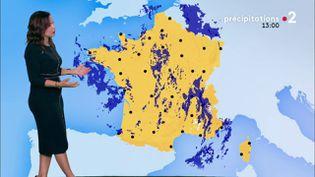 Capture d'écran du bulettin météo de France 2. (FRANCE 2)