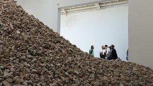 Une installation de Lara Almarcegui au pavillon espagnol de la 55e Biennale de Venise (29 mai 2013)  (Gabriel Bouys / AFP)
