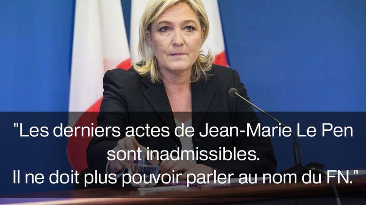 Marine Le Pen, le 3 mai 2015 sur Europe 1. (MAXPPP)