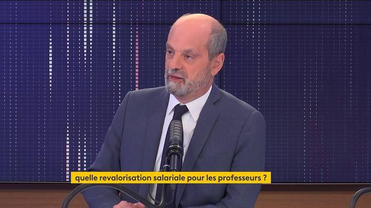 Jean-Michel Blanquer, ministre de l'Education nationale, le 28 septembre 2021, sur franceinfo. (FRANCEINFO / RADIOFRANCE)