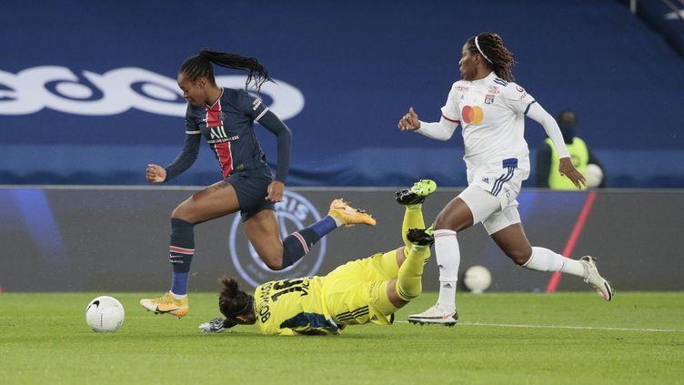La Parisienne Marie-Antoinette Katoto a inscrit le seul but du match (STEPHANE ALLAMAN / STEPHANE ALLAMAN)