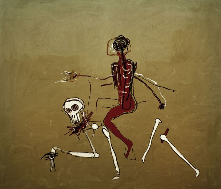"""Jean-Michel Basquiat, """"Riding With Death"""", 1988, collection particulière  (Estate of Jean-Michel Basquiat. Licensed by Artestar, New York. Photo : Private collection, all rights reserved)"""