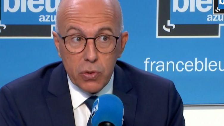 Éric Ciotti,député LR des Alpes-Maritimes, le 13 septembre 2021 sur France Bleu Azur. (FRANCEINFO / RADIO FRANCE)