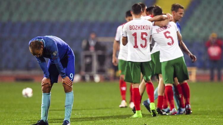 La Bulgarie assomme les Pays-Bas (2-0). (DIMITAR DILKOFF / AFP)