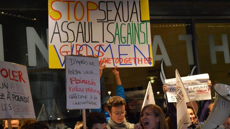 Des féministes perturbent un hommage à Roman Polanski devant la Cinémathèque de Paris, le 30 octobre 2017  (CITIZENSIDE / ALPHACIT NEWIM / Citizenside)