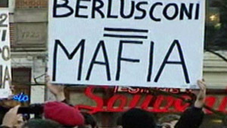 Manif en Italie contre Berlusconi