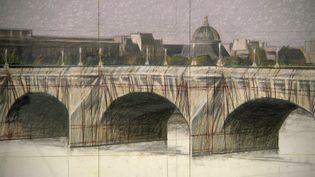 Croquis de l'emballage du Pont-Neuf de Paris par Christo en 1985 (France 3 Alsace)