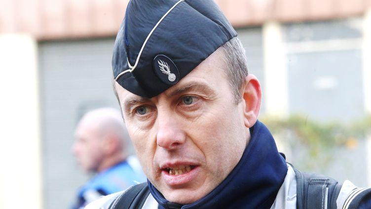 Le lieutenant-colonel Arnaud Beltrame, grièvement blessé dans les attaques de Trèbes (Aude) et décédé le 24 mars 2018, est ici photographié le 13 décembre 2017. (MAXPPP)