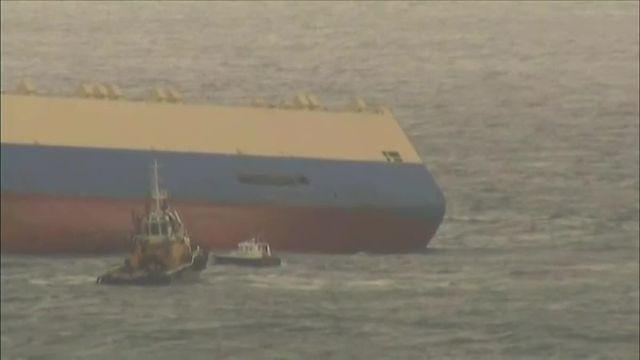 """Le cargo """"Modern Express"""" est bien entré dans le port de Bilbao"""