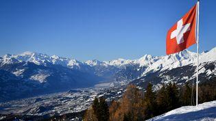 La station suisse de Crans-Montana, le 4 mars 2018. (FABRICE COFFRINI / AFP)