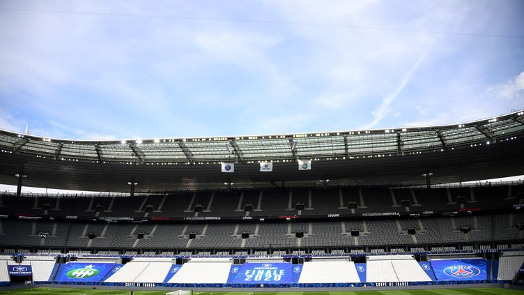 Le Satde de France, lors de l'entraînement des footballeurs de l'AS Saint-Etienne, jeudi 23 juillet 2020. (FRANCK FIFE / AFP)
