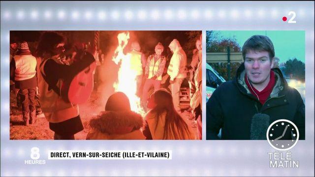 """""""Gilets jaunes"""" : le dépôt de carburant de Vern-sur-Seiche ouvre à nouveau"""