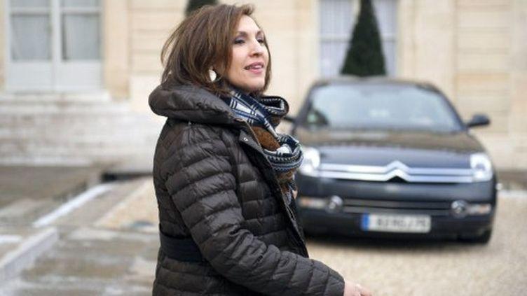 Nora Berra à la sortie du conseil des ministres mercredi (Lionel Bonaventure)