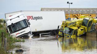 Le département du Garda été fortement touché par les orages et la pluie, mardi 14 septembre. (SYLVAIN THOMAS / AFP)