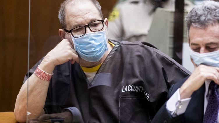 L'ancien producteur de cinéma Harvey Weinsteinau tribunal, le 29 juillet 2021 à Los Angeles, en Californie. (POOL / GETTY IMAGES NORTH AMERICA / AFP)