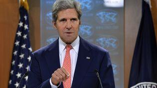 Le secrétaire d'Etat américain, John Kerry, lors d'une conférence de presse à Washington (Etats-Unis), le 26 août 2013. (JEWEL SAMAD / AFP)