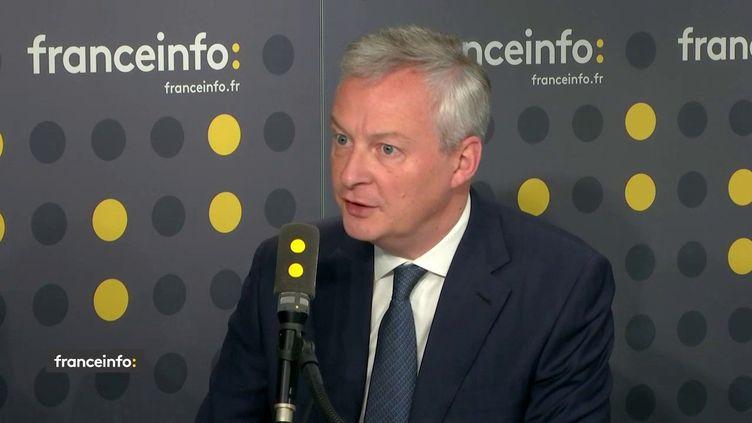 Bruno Le Maire sur franceinfo mercredi 22 mai 2019. (FRANCEINFO)