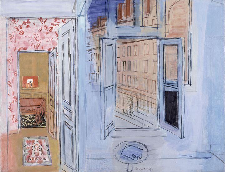 """Raoul Dufy, """"L'Atelier de l'impasse Guelma"""", 1935-1952, Paris, Musée National d'Art moderne, Centre Georges Pompidou, legs de Mme Raoul Dufy, 1963 (© Adagp, Paris 2021)"""