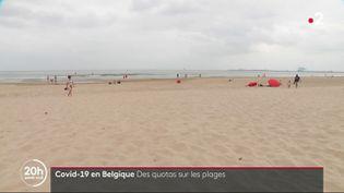 Une plage en Belgique soumises à des quotas (FRANCEINFO)