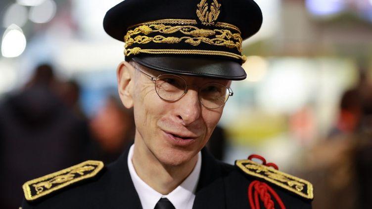 Le préfet de police Didier Lallement au Salon de l'agriculture, à Paris, le 22 février 2020. (LUDOVIC MARIN / AFP)