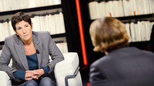 """Christine Angot sur le plateau de """"La Grande Librairie"""" (France 5)  (BALTEL/SIPA)"""