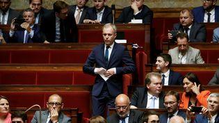 Le député LREM François de Rugy lors de la session inaugurale de la XVe législatures, à l'Assemblée nationale, le 27 juin 2017. (PATRICK KOVARIK / AFP)