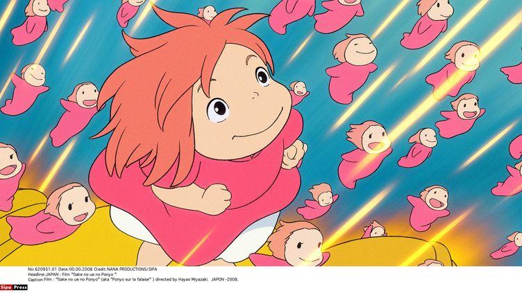 Le film d'animation Ponyo sur la falaise du réalisateur japonais Hayao Miyazaki est sorti en 2008. (NANA PRODUCTIONS / SIPA)