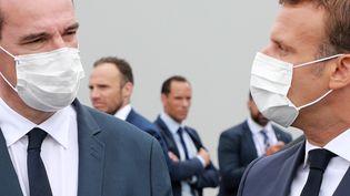 Jean Castex et Emmanuel Macron le 14 juillet 2020 (LUDOVIC MARIN / POOL)
