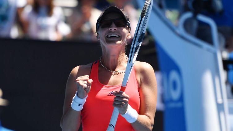 Mirjana Lucic-Baroni n'en croit pas ses yeux : elle est en demi-finale de l'Open d'Australie (MASAHIRO SUGIMOTO / YOMIURI)