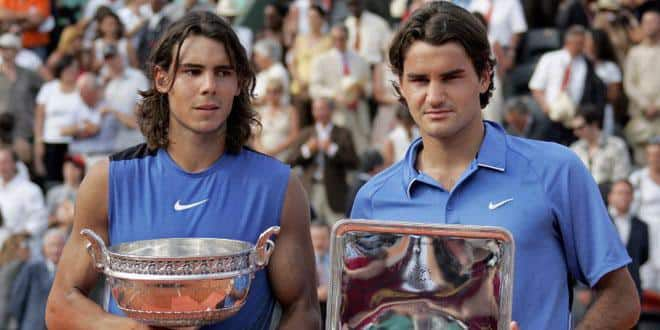 Rafael Nadal et Roger Federer à Roland-Garros en 2011