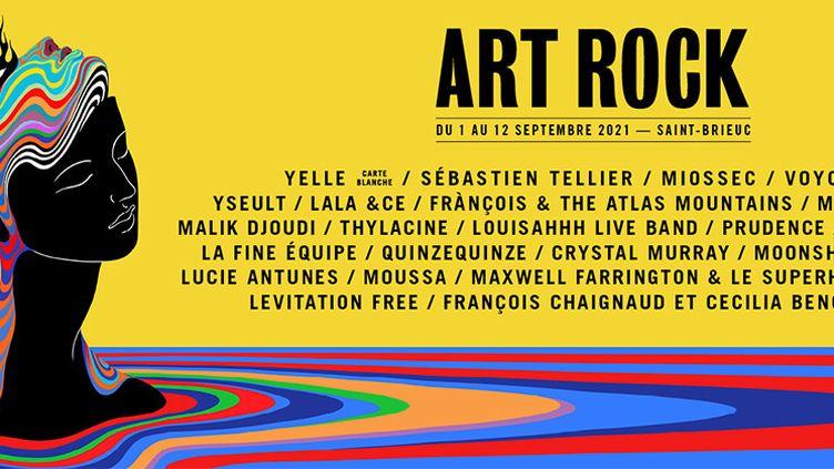 Affiche du festival Art Rock de Saint Brieuc (DR)