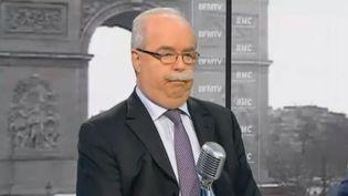 Christophe de Margerie, PDG du groupe Total, sur BFMTV, le 15 février 2013. (BFMTV / FRANCETV INFO)