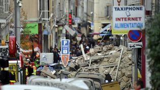 Les décombres des immeubles effondrésrue d'Aubagne à Marseille, lundi 5 novembre 2018. (AFP)